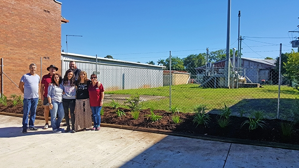 Business owners help beautify South Lismore Pump Station