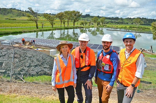 Work begins on Lismore community floating solar farm