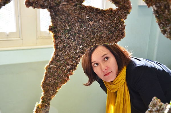 Glass artwork explores Brave New World of recycling