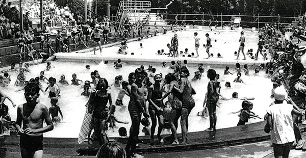 Memorial Baths celebrates 90th year with community pool party