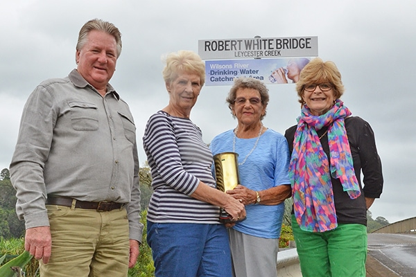 Bridge sign honours South Lismore man of courage