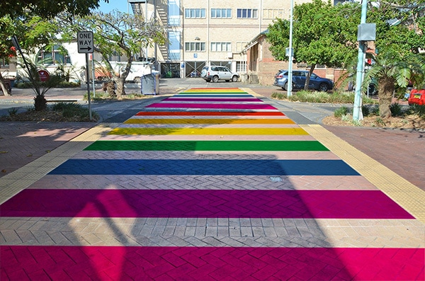 Rainbow walkway adds colour to Magellan Street