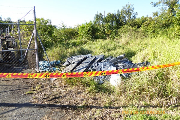 Call for assistance with illegal asbestos dumping