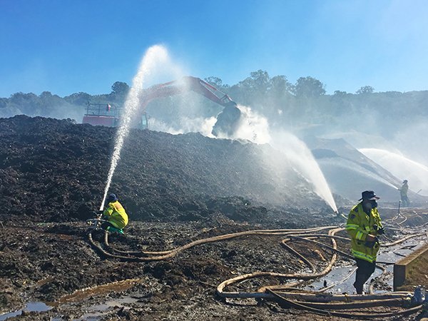 Recycling centre fire extinguished; damage assessed